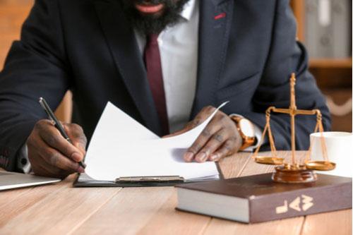 Atlanta burn injury lawyer preparing lawsuit