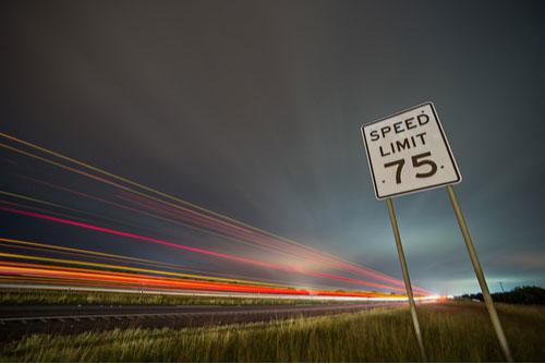 Speed limit 75 sign, idea of Macon speeding accident lawyer
