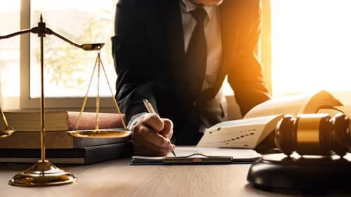 An attorney filing a wrongful death claim for a client.