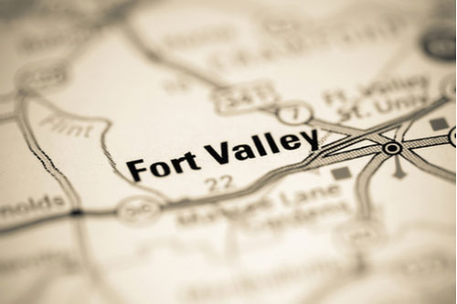 Fort Valley, Georgia, USA on map