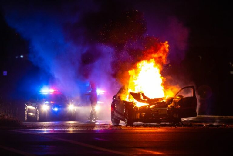 Fiery Crash in Atlanta